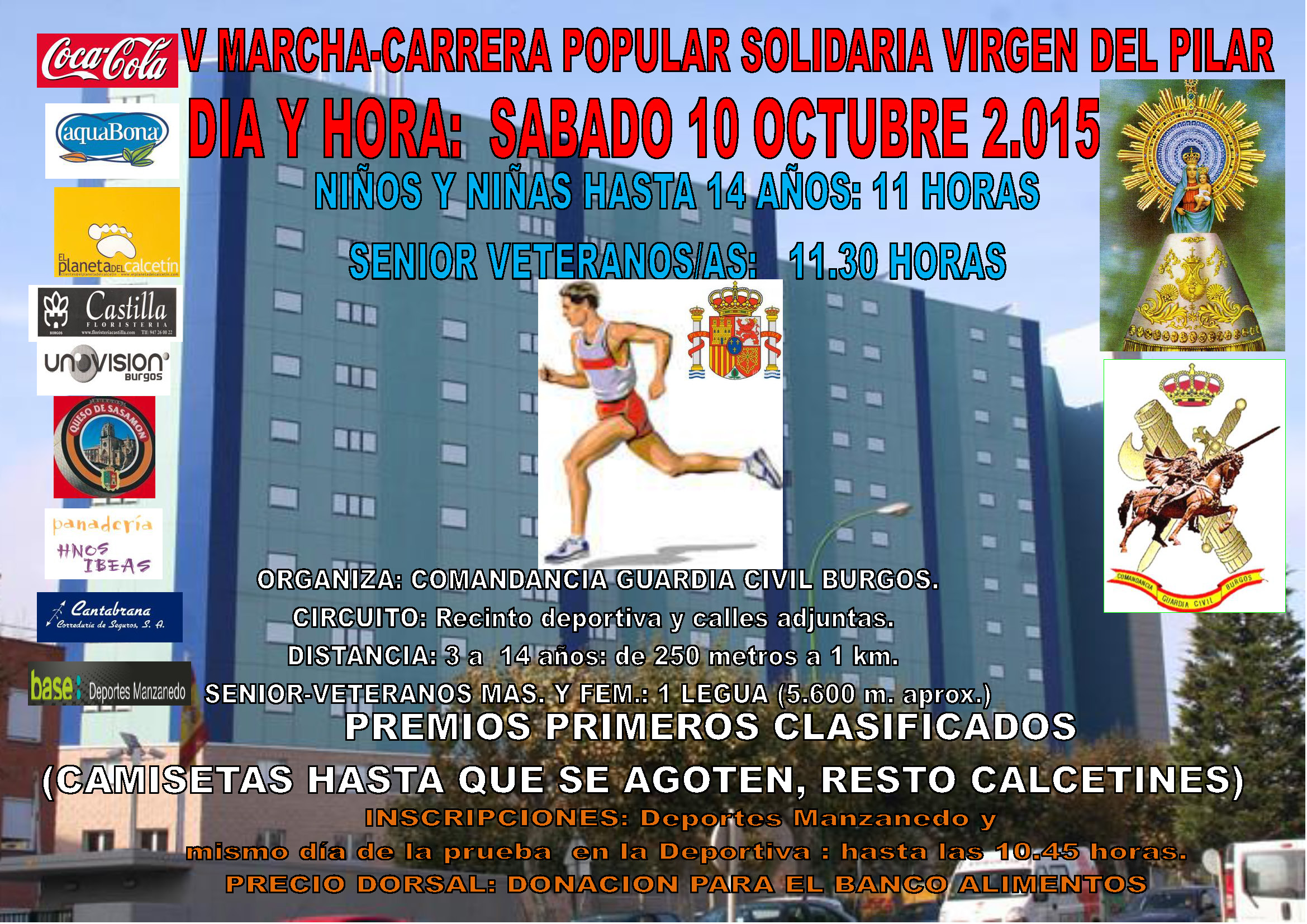 V MARCHA-CARRERA POPULAR SOLIDARIA VIRGEN DEL PILAR
